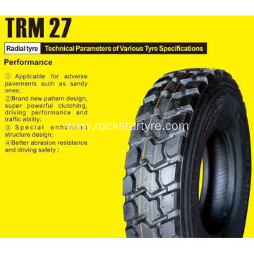 Rockstar tyre 12.00R20 radial tire for howo trucks